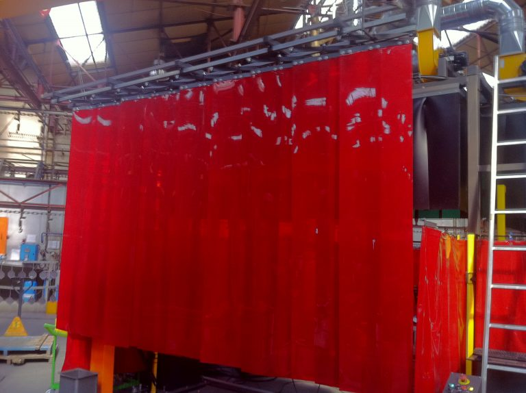 système pneumatique de fermetrure de rideaux de soudure 2